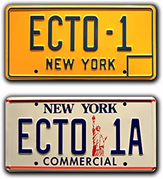 ECTO-1 Metal Stamped License Plates Ghostbusters ECTO-1A