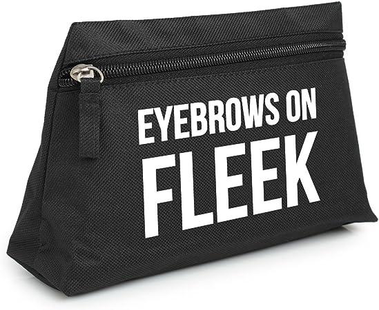Cejas on Fleek bolsa estuche neceser organizador bolso Tumblr carcasa, negro (Negro) - EYEBROWSONFLEEKMAKEUP2: Amazon.es: Equipaje