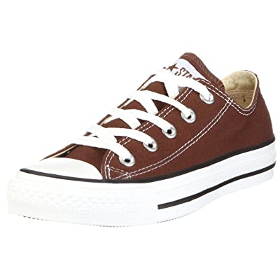 Converse Chuck Taylor All Star Lo Top Chocolate Canvas Shoes with Extra Pair of Black Laces Men's 7/ Women's 9 | Fashion Sneakers