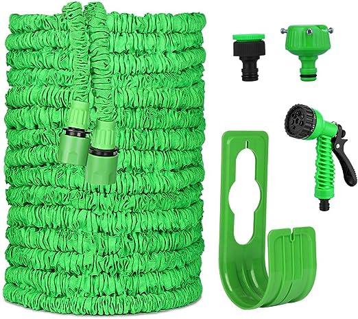 VEGKEY Flexible Manguera de Jardín, 100 FT 30m Manguera Extensible, Manguera Flexible Flexi Wonder Manguera de jardín Flexible con Ducha de Mano de jardín de 8 funcionesJardín Ducha de Mano: Amazon.es: Jardín