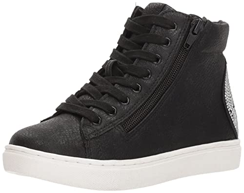 06b4e197a5b Steve Madden Girls' Jsmile Sneaker, Black, 2 M US Little Kid: Amazon ...