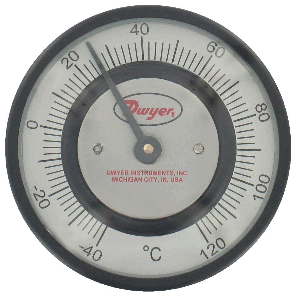 Dwyer® Pipe-Mount Bimetal Surface Thermometer, STC141, 0 to 150°F, 3/4'' to 7/8'' Pipe by Dwyer