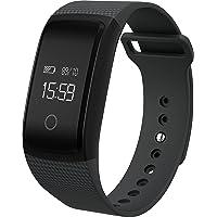OPTA A09 Rubber Bluetooth Smart Fitness Band Heart Rate Sensor Monitors (Black)