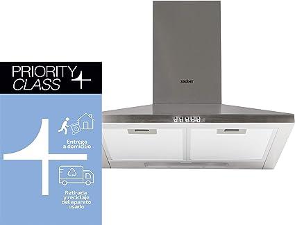 Sauber - Campana Chimenea SCDP60I - Ancho: 60cm - Acero inoxidable: Amazon.es: Grandes electrodomésticos