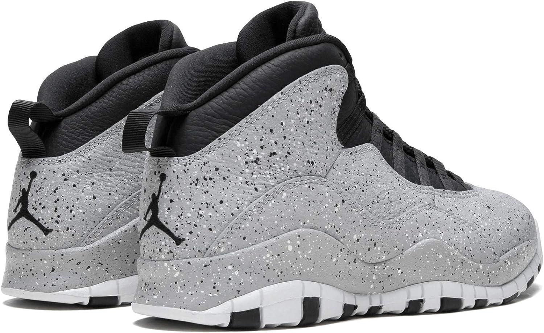 Nike Air Jordan 10 Cement Mens Basketball-Shoes