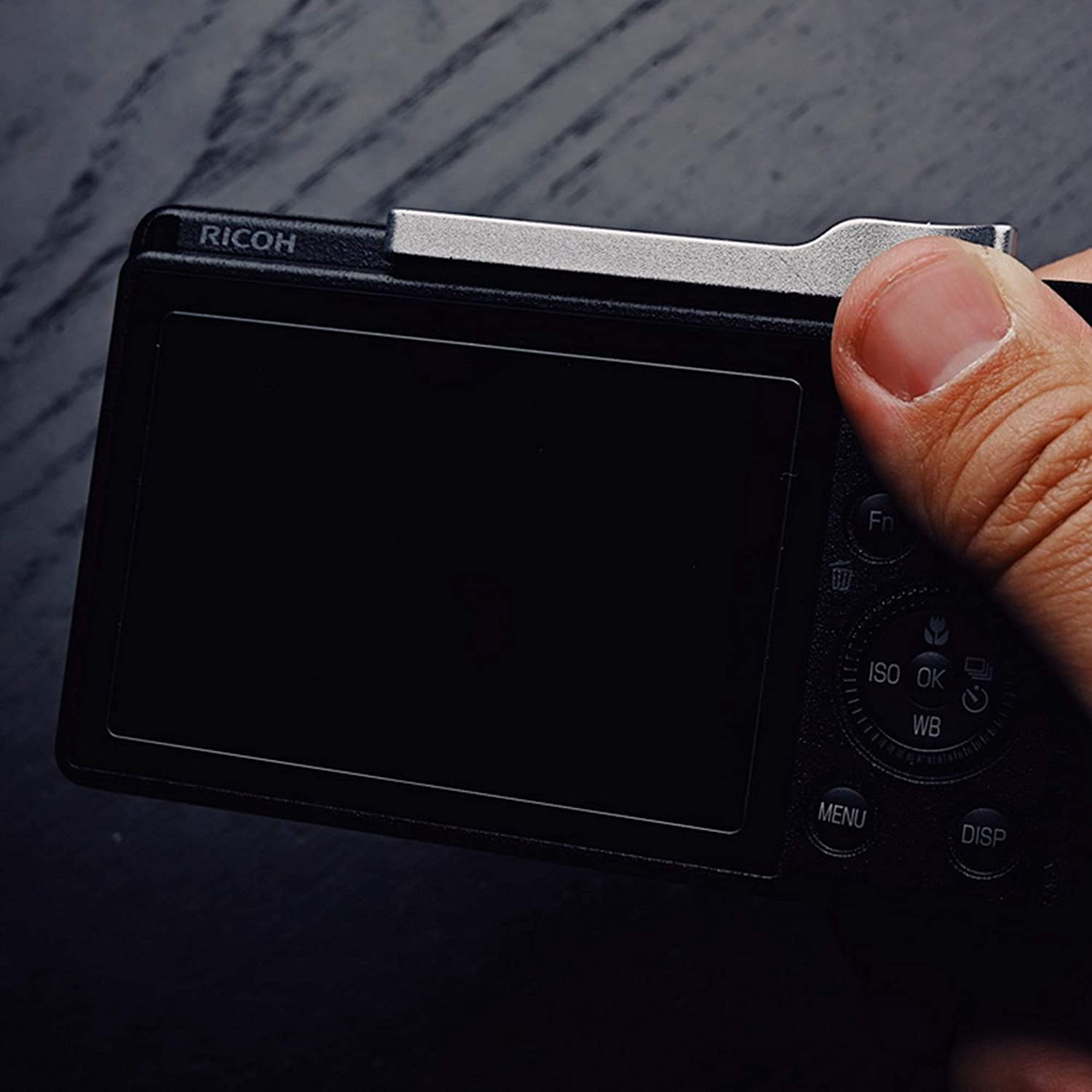 Silver RAYANSPHOTO Thumb Rest Grip with Camera Hot Shoe Cover for RICOH GR3 GRIII
