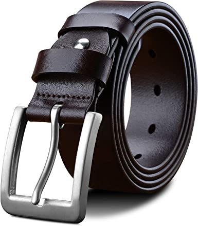 Eagle Buckle Genuine Cow Skin Quality Leather Jeans Trouser Belt Strap For Men