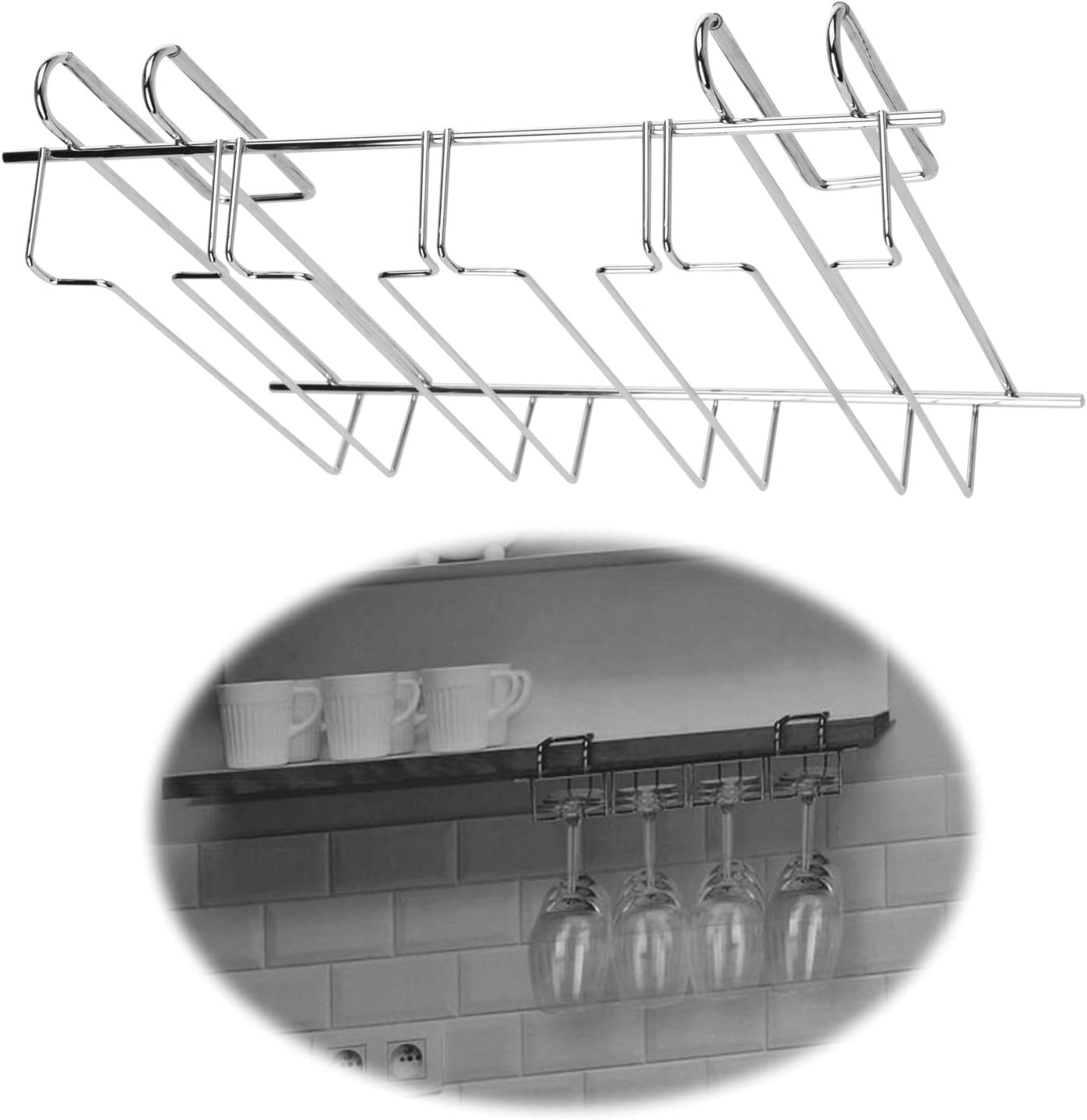 LS de Estilo de Vida 4 Compartimento Carriles Vasos de Plana 34 cm para 12 Copas de champán Copas de Vino: Amazon.es: Juguetes y juegos