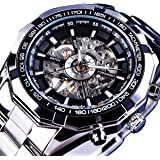 GuTe Classic Skeleton Mechanical Wristwatch...