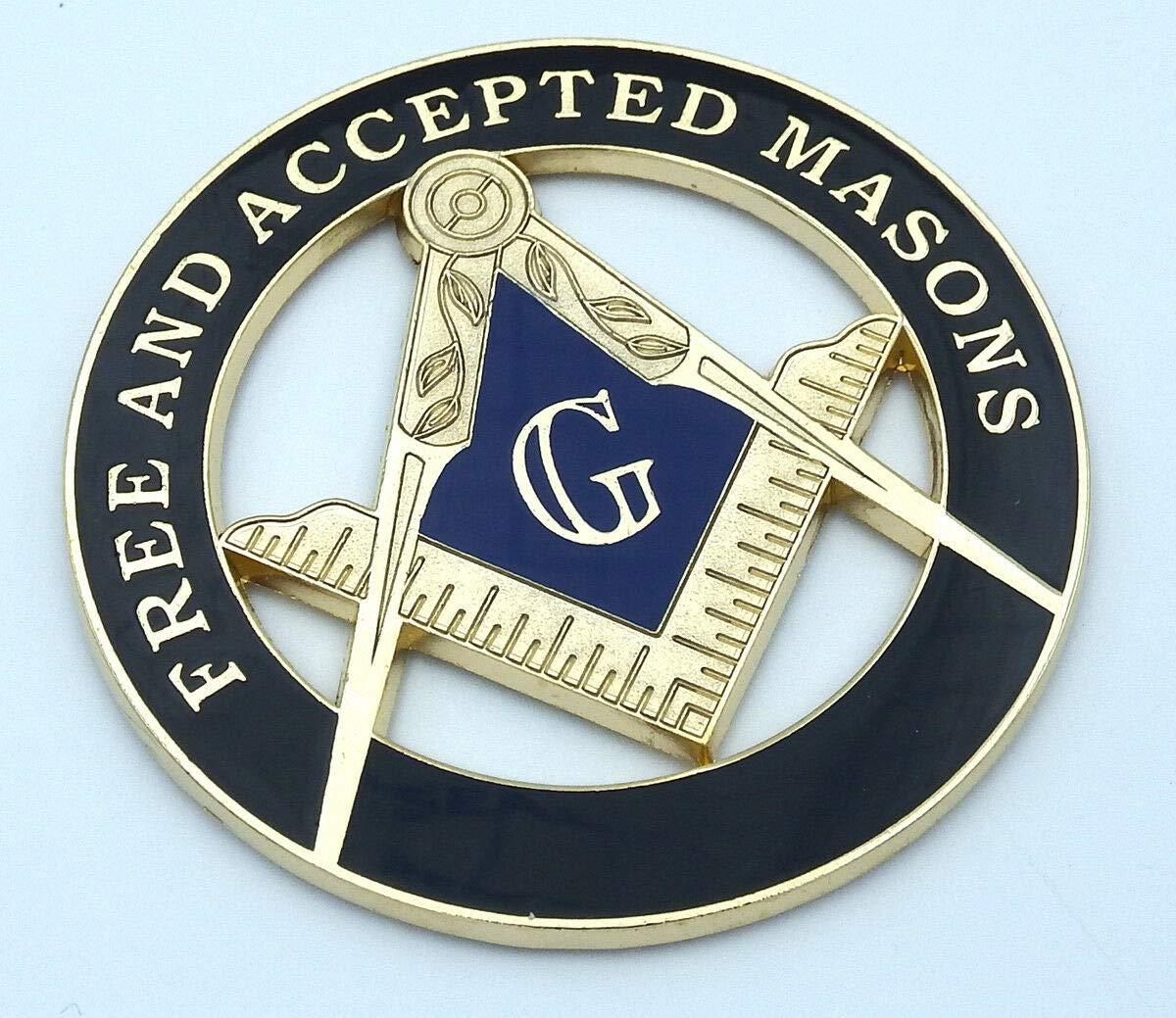Aplique Masones Masónicos Libres y Aceptados Blak Gold 3 MAS