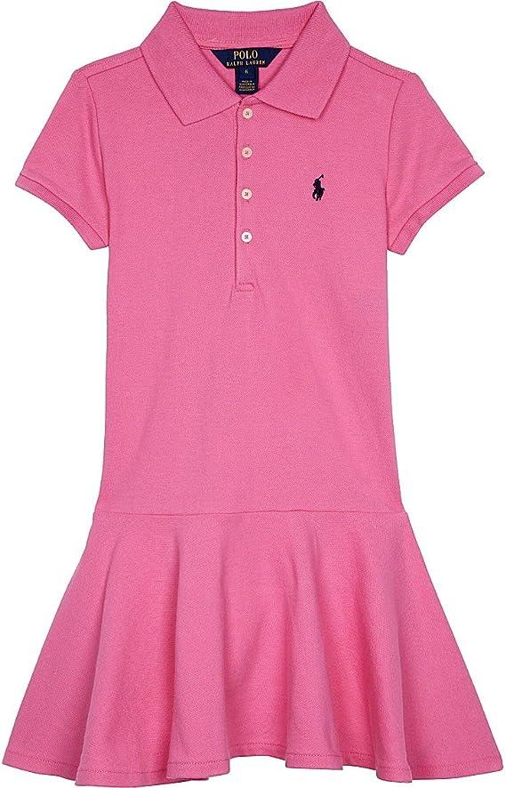 Ralph Lauren niñas Rosa polo vestido multicolor Talla:S 7: Amazon ...