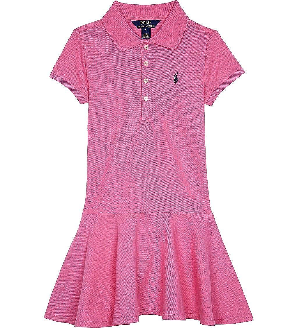 e091db0c6 Amazon.com: Ralph Lauren Girls Pink Polo Dress: Baby
