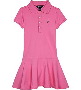 4debe58a Amazon.com: Ralph Lauren Girls Pink Polo Dress: Baby