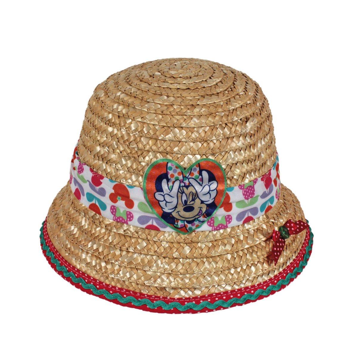 Color Paja Talla /única Minnie 2200000222 Sombrero de paya para ni/ños