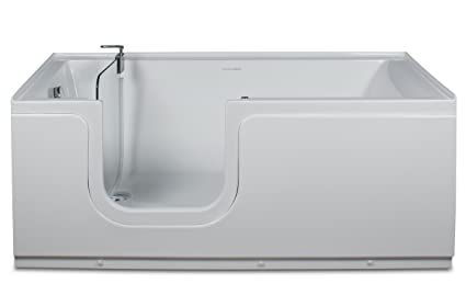 Beautiful Aquarite Step In Tub 59x30in With Tempered Glass Tub Door, Air Jets And Left