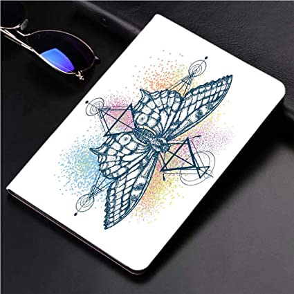 "be5e854491402 iPad 9.7"" 2018 / iPad Air 1/2 Case Magic Butterfly Color Tattoo  Geometrical"
