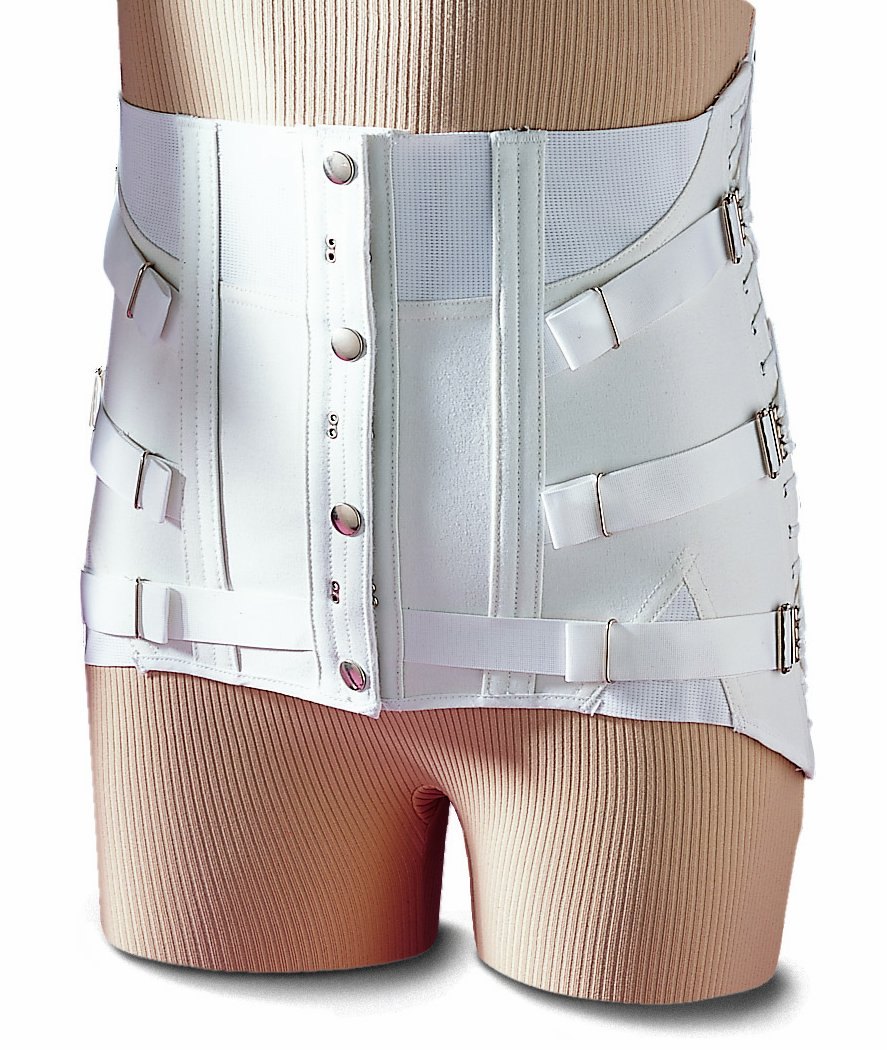 Men's Fitted Lumbosacral Back Support Corset Design Lower Back Brace Chronic Back Pain Relief (38'')