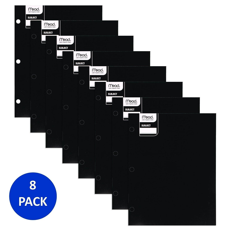 Paper Pocket Folders Mead 2 Pocket Folders 8 Pack Purple 38575