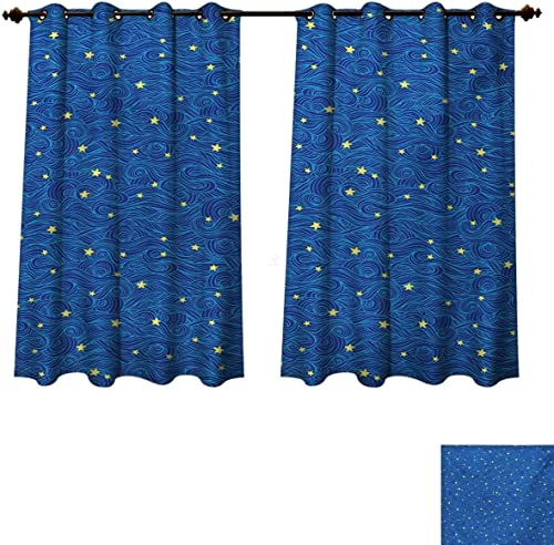 RuppertTextile Starry Night Blackout Curtains Panels Review