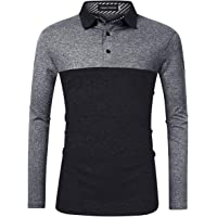 Yong Horse Men's Casual Dry Fit Golf Polo Shirts Athletic Short/Long Sleeve T Shirt