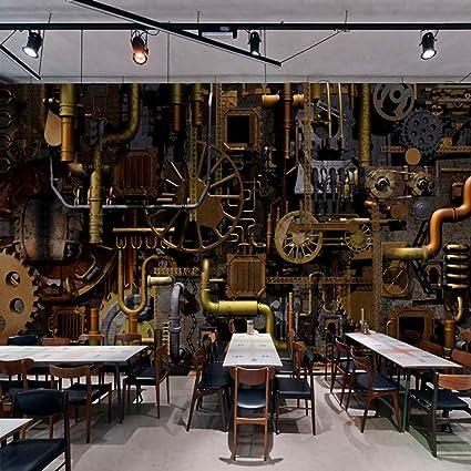 Murale Personnalisée 3d Style Industriel Rétro Café