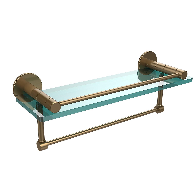 Allied Brass Brass FR-1/16GTB-BBR Rail 16-Inch Glass Glass Shelf with Towel Bar and Rail by Allied Brass B003XRJ1AM つや消しブロンズ, GOODSCOMPANY:eb78c50a --- jpworks.be