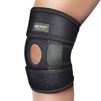 157566290c Knee Support Open Patella Stabiliser, Medical Grade Breathable & 3 Way  Fully Adjustable Neoprene Brace Strap, Arthritis ...
