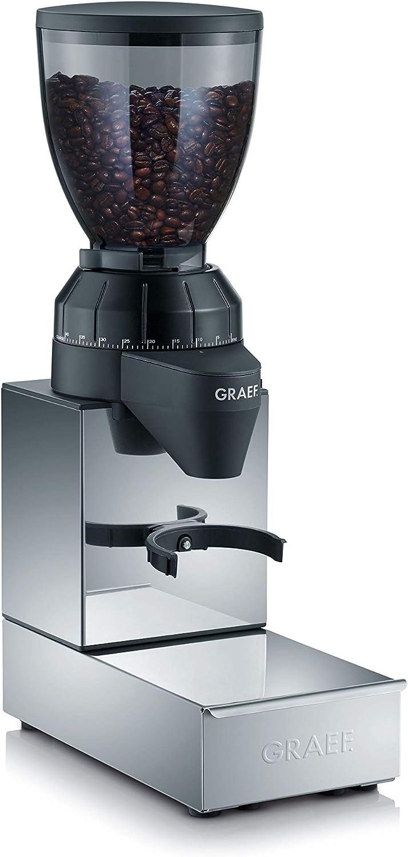 Graef CM 850 Molinillo profesional, ideal para preparar café espresso, 128 W, Aluminio, Acero Inoxidable, Negro: Amazon.es: Hogar