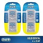 Oral-B Hilo Dental Oral B Pro-salud Multi Beneficios 25mt, 4 Unidades, Pack of 1
