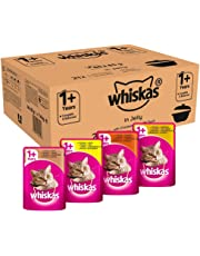 Whiskas 1+ Cat Food Pouches Casserole Mixed Selection in Jelly, 85 g (Pack of 84)