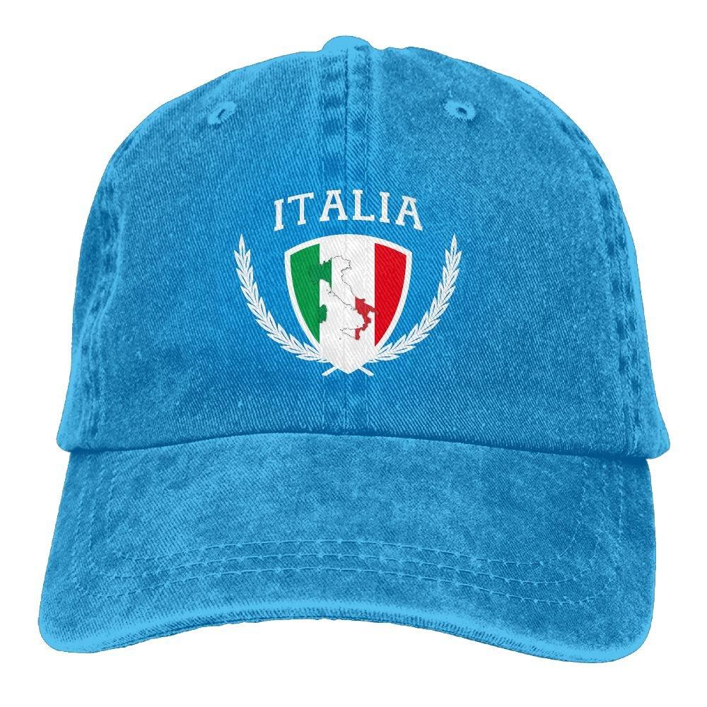 a0f0cf81 Amazon.com: Italy Italian Flag Adult Cap Adjustable Cowboy Hats Baseball Cap:  Clothing