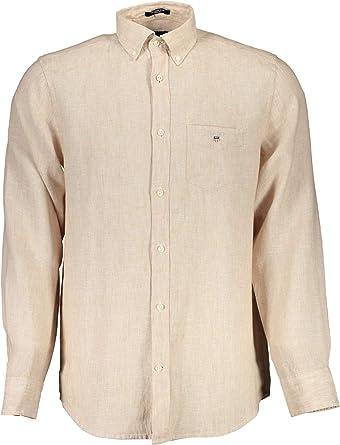 GANT The Regular Linen Shirt Camisa para Hombre: Amazon.es: Ropa y accesorios