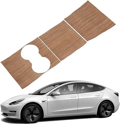 Glossia Mittel Konsole Instrumenten Tafel Holz Maserung Aufkleber Dekoration Trim Für Tesla Model 3 Auto