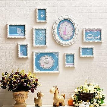 Romantische Fee Mädchen Schlafzimmer Bilderrahmen Foto Wand, Europäische  Holz Kunst Prinzessin Zimmer Wand Foto Wand