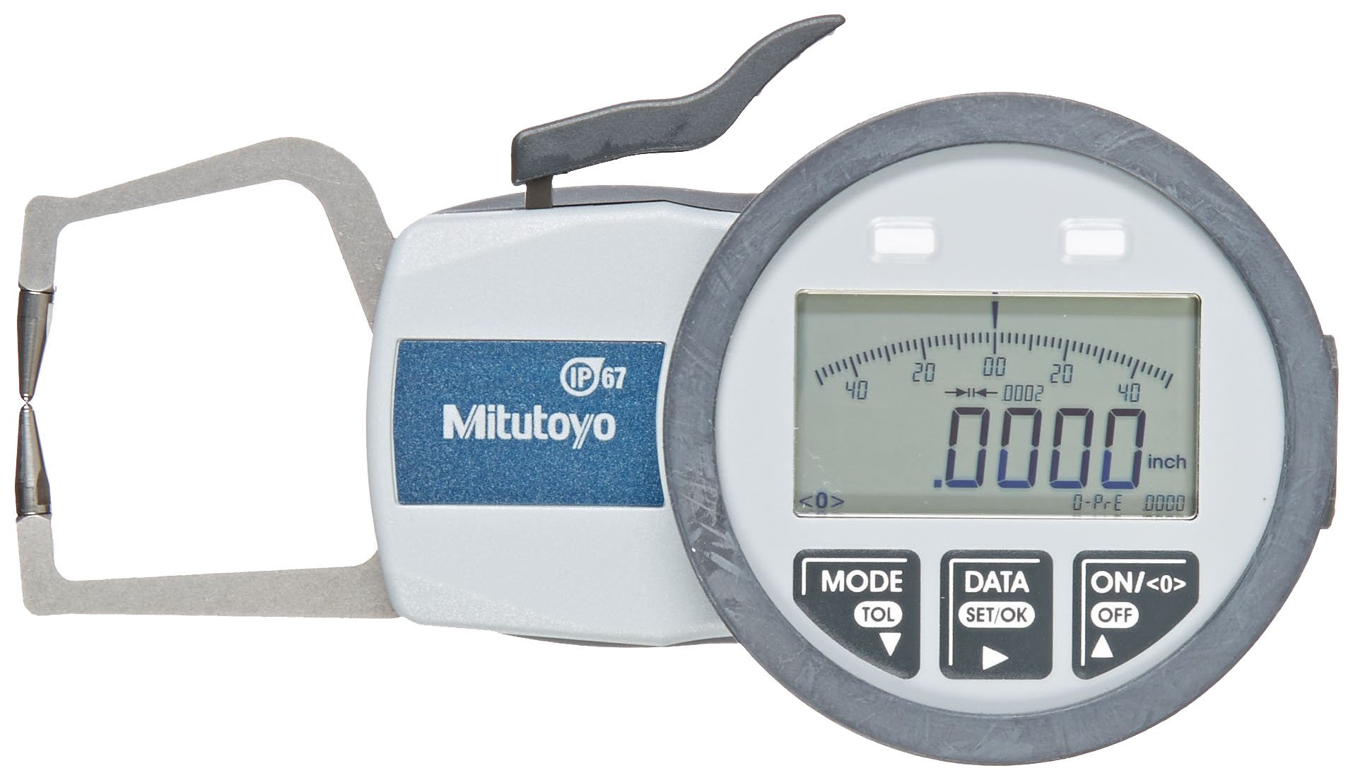Mitutoyo 209-570 Caliper Gauge, Inch/Metric, Pointed Jaw, 0-0.39'' Range, +/-0.0008'' Accuracy, 0.0002'' Resolution, Meets IP63/IP67 Specifications by Mitutoyo