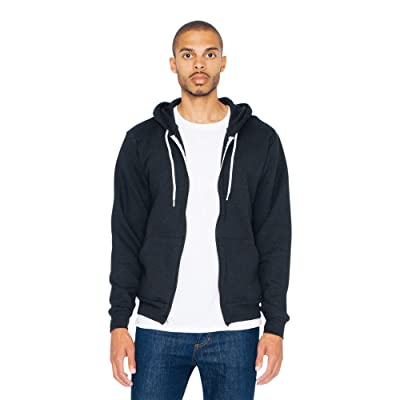 American Apparel Men's Flex Fleece Long-Sleeve Zip Hoodie at Men's Clothing store
