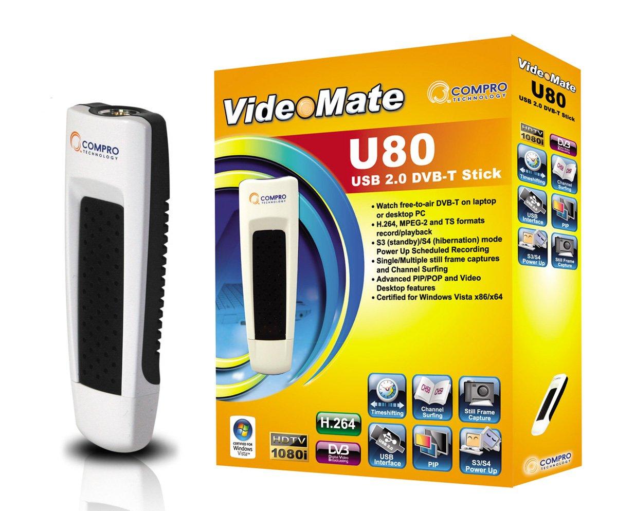 Compro U80 USB DVB T Stick Amazoncouk Computers