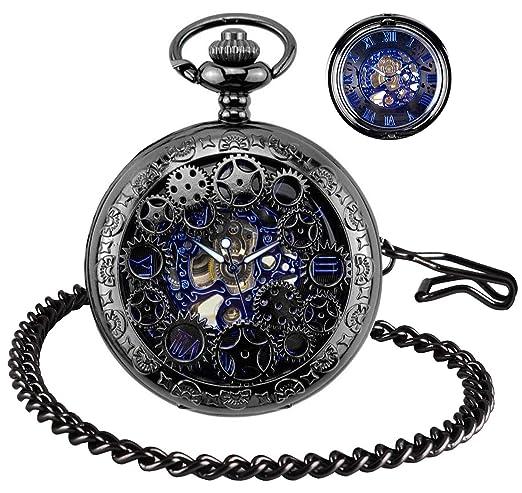 BHGWR Reloj de Bolsillo para Hombre con Cadena, Relojes para Hombre papá/Padre/