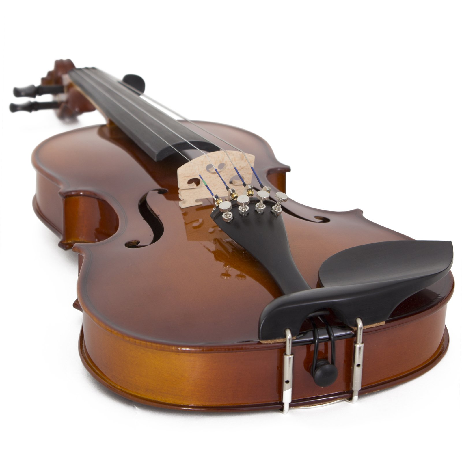 Cecilio CVN-320L Solidwood Ebony Fitted Left-Handed Violin with D'Addario Prelude Strings, Size 4/4 (Full Size) by Cecilio (Image #5)