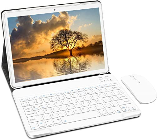 Tablet 10 Pulgadas 4 GB de RAM 64 GB Ampliables hasta 128 GB, Android 10.0 Tablets, Procesador Quad-Core, Pantalla HD IPS, Dual SIM LTE/WiFi, 8000mAh ...