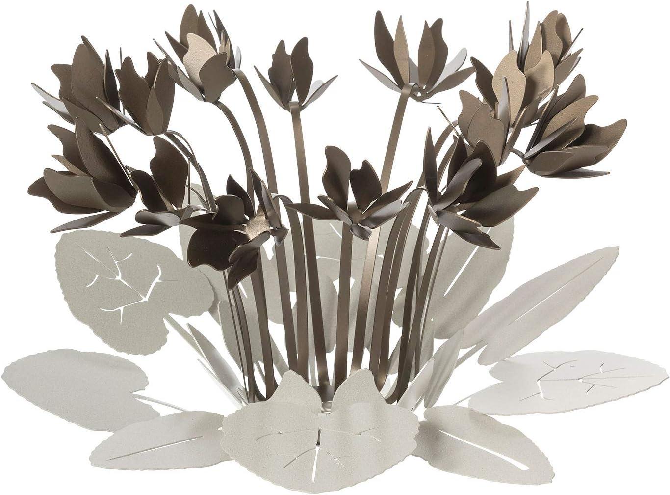 ARTI E MESTIERI Ciclamino CENTROTAVOLA Particolare Metallo Avorio Bronzo Design Moderno
