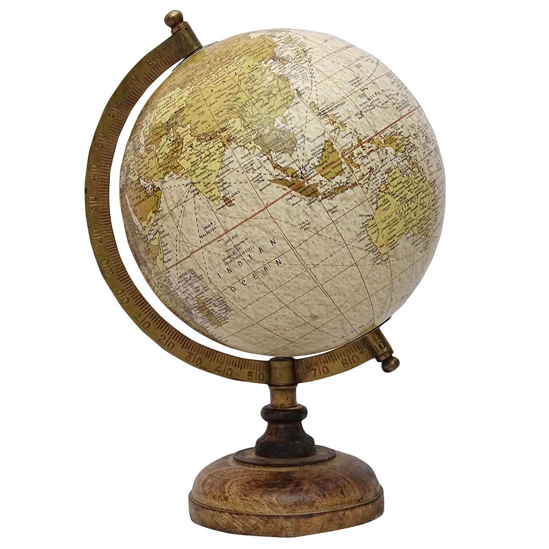 Amazon: Medium Rotating Desktop Globe World Earth Ocean Table D�cor  Geography Globes 13