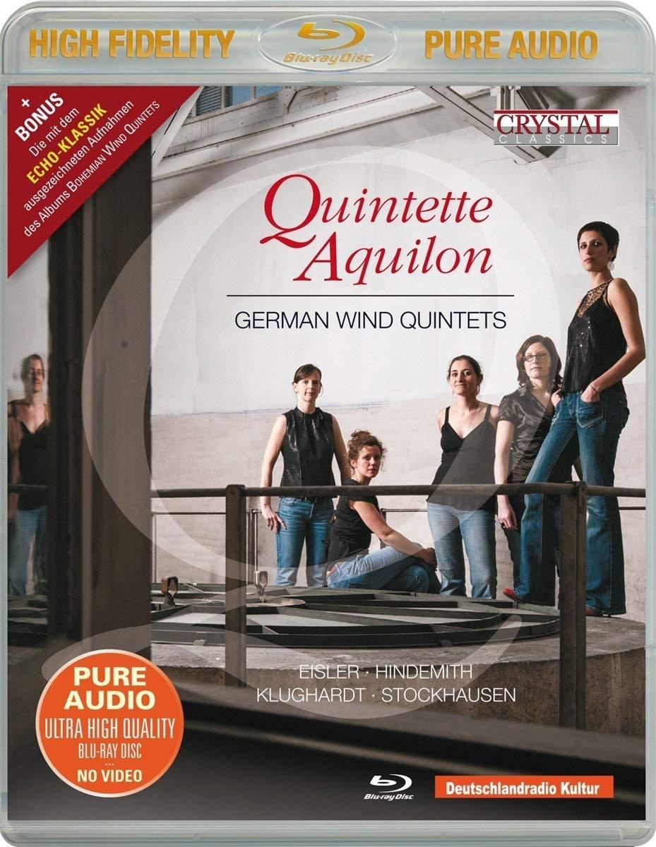 Blu-ray Audio : QUINTETTE AQUILON - German Wind Quintets (Blu-ray Audio)