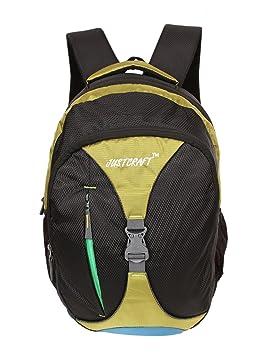 Justcraft Elite Black and Lite Green Laptop Backpack Laptop Backpacks