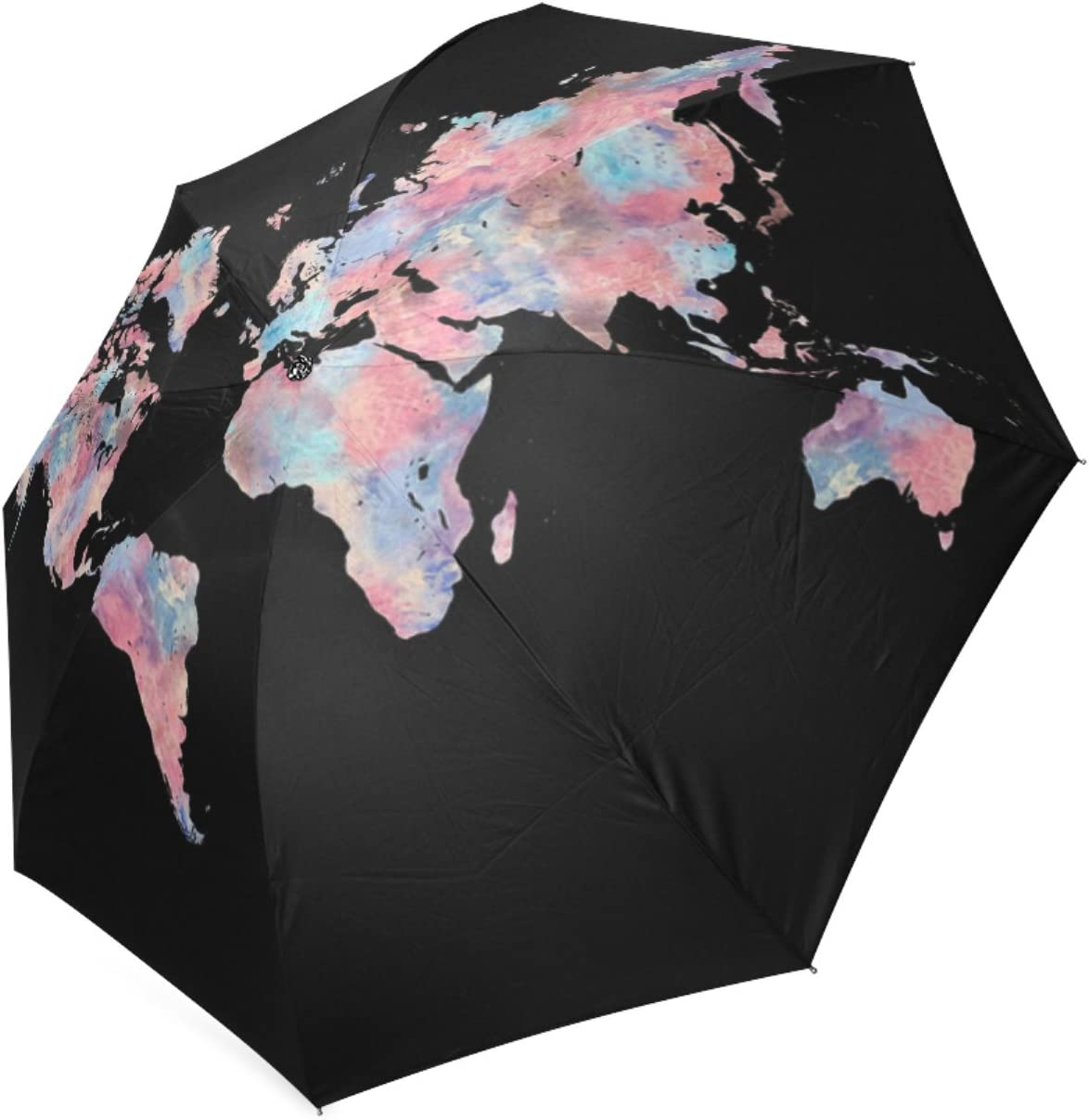 Personalized Wanderlust Foldable Umbrella Rain Compact Travel Umbrella