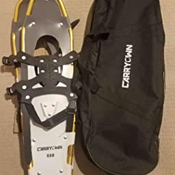 Carryown Xtreme Light Weight Snowshoes Set for Adults Men Women Youth Kids 14 //21// 25// 30 Aluminum Alloy Terrain Snow Shoes with Trekking Poles and Carrying Tote Bag