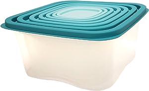 Starplast 98306 Ombre 7 Piece Aqua Food Storage Set