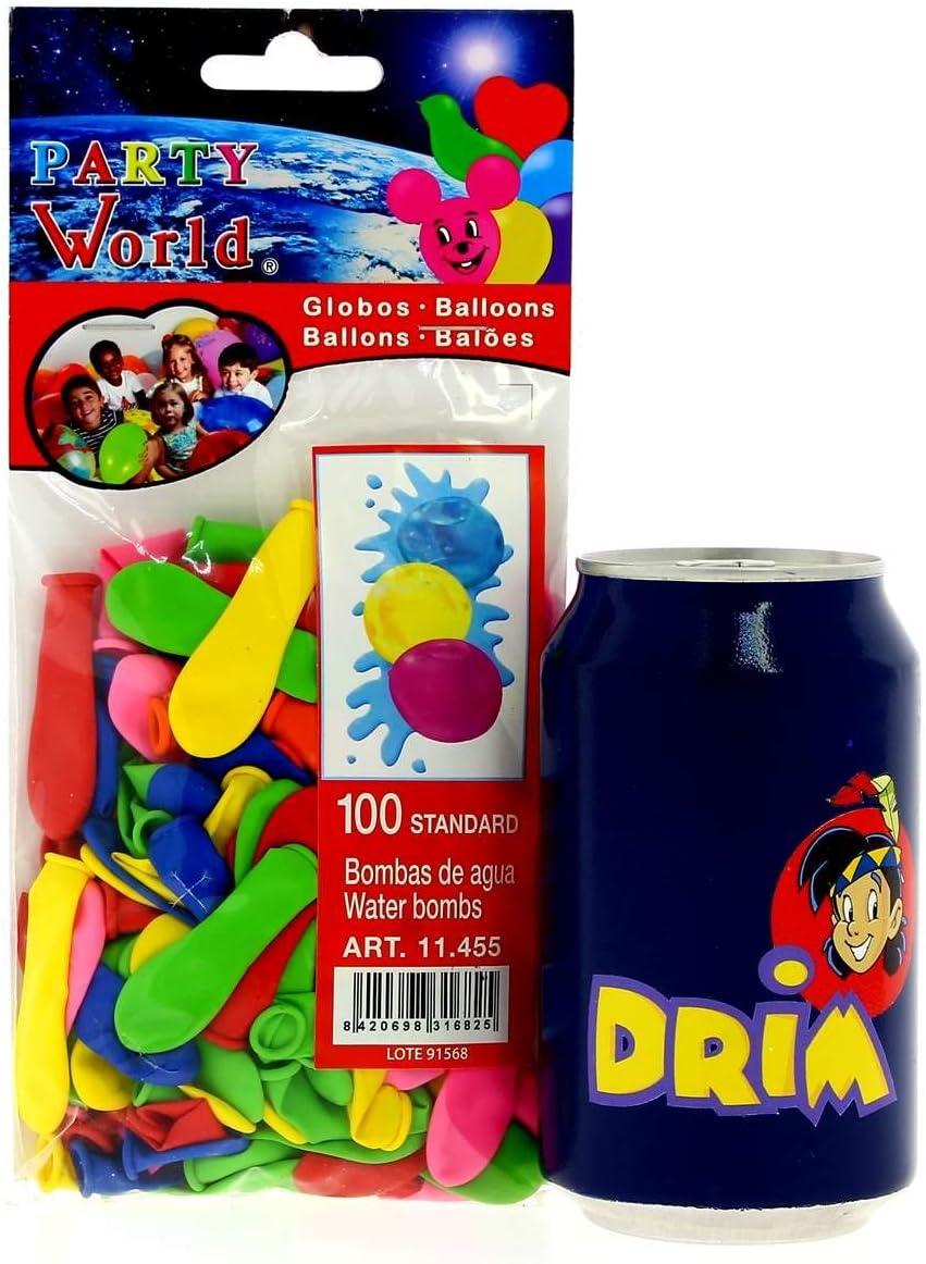 DRIM DISCOUNT Bolsa de 100 Globos de Agua: Amazon.es: Juguetes y ...
