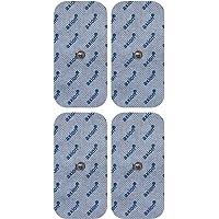 4 Electrodos para VITALCONTROL BEURER - parches TENS EMS medianos 10x5cm - electroestimuladores con conexión de botón 3,5mm - Almohadillas calidad axion