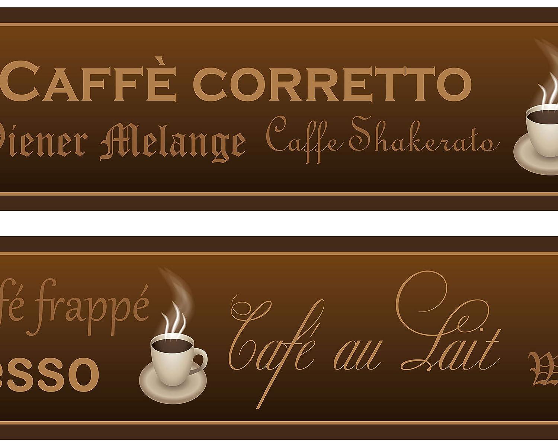 Kleisterbordü re Kaffee, 4-teilig 520x15cm, Tapetenbordü re, Wandbordü re, Borte, Wanddeko,Coffee, Coffee wandmotiv24